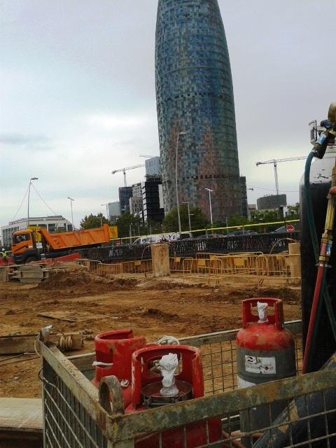 El Chemtane 2, en la transformació de la plaça de les Glòries de Barcelona