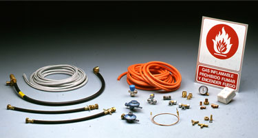Appliances and fittings for gas installations
